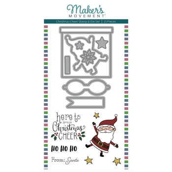 Maker's Movement CHRISTMAS CHEER Stamp And Die Set msd230