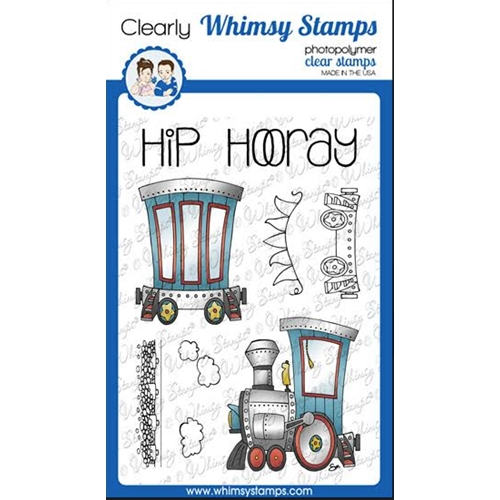 Whimsy Stamps LINKING TRAIN Clear Stamps BS1020 Preview Image