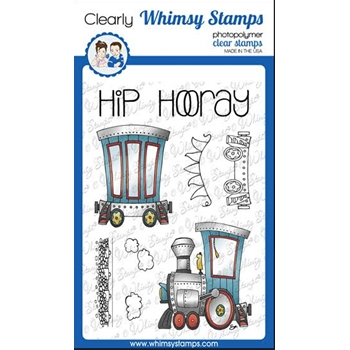 Whimsy Stamps LINKING TRAIN Clear Stamps BS1020