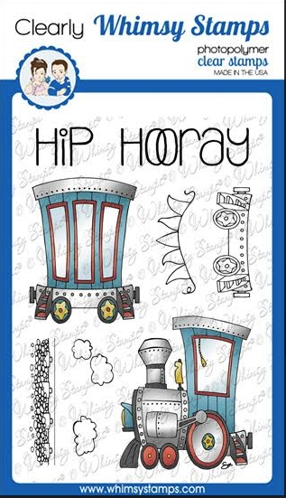 Whimsy Stamps LINKING TRAIN Clear Stamps BS1020 zoom image
