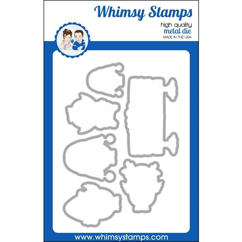 Whism Stamps CHRISTMAS HOO Outline Dies WSD508 Preview Image