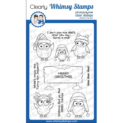 Whimsy Stamps CHRISTMAS HOO Clear Stamps CWSD352 Preview Image