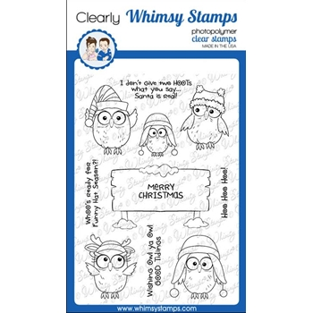 Whimsy Stamps CHRISTMAS HOO Clear Stamps CWSD352