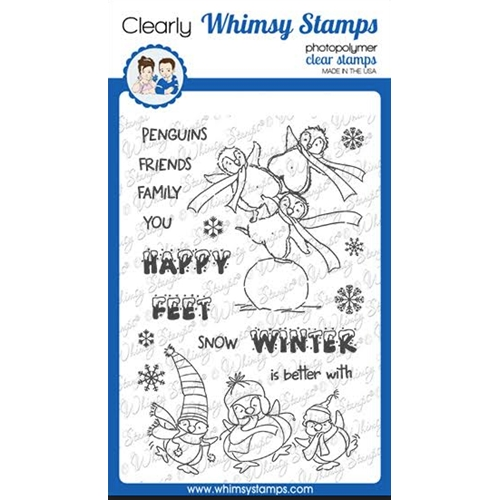 Whimsy Stamps HAPPY FEET Clear Stamps CWSD351 Preview Image