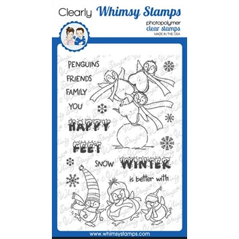 Whimsy Stamps HAPPY FEET Clear Stamps CWSD351