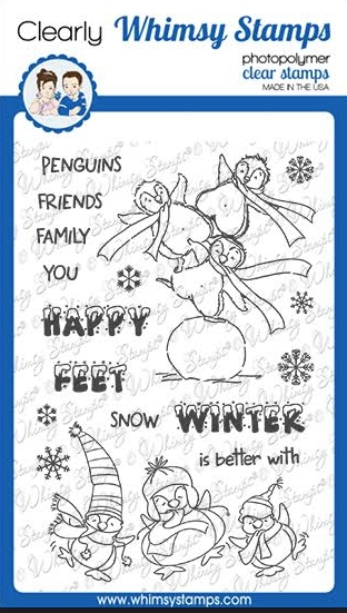Whimsy Stamps HAPPY FEET Clear Stamps CWSD351 zoom image