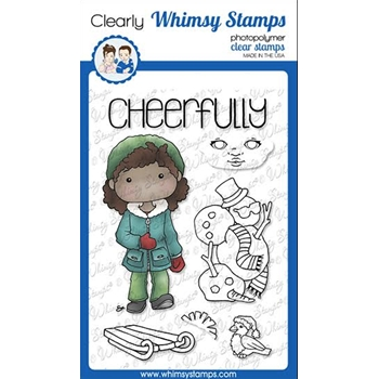 Whimsy Stamps POLKA DOT PALS UZURI Clear Stamps BS1019