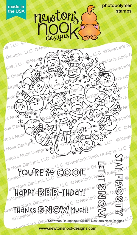 Newton's Nook Designs SNOWMAN ROUNDABOUT Clear Stamps NN2011S03 zoom image