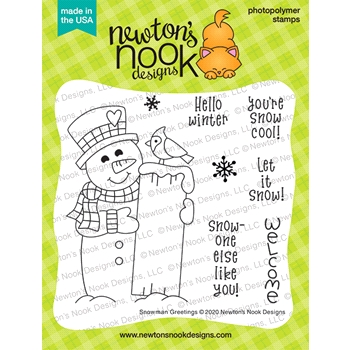 Newton's Nook Designs SNOWMAN GREETINGS Clear Stamps NN2011S02