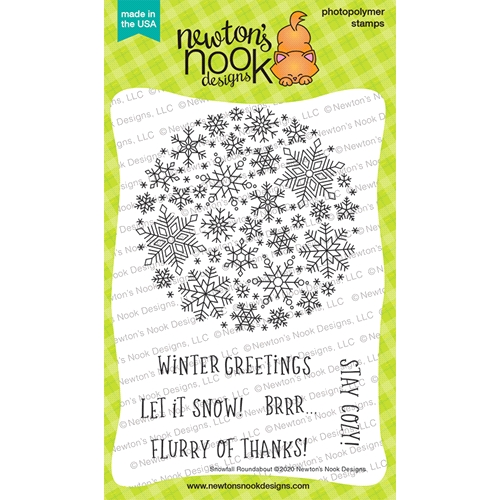 Newton's Nook Designs SNOWFALL ROUNDABOUT Clear Stamps NN2011S04 Preview Image