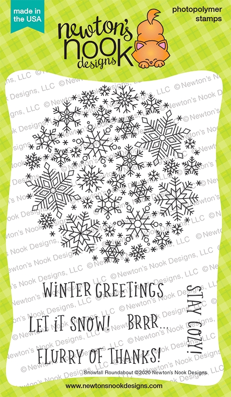 Newton's Nook Designs SNOWFALL ROUNDABOUT Clear Stamps NN2011S04 zoom image