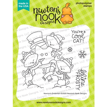 Newton's Nook Designs NEWTON'S SNOWMAN Clear Stamps NN2011S01