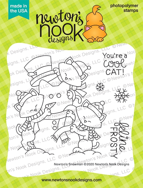 Newton's Nook Designs NEWTON'S SNOWMAN Clear Stamps NN2011S01 zoom image