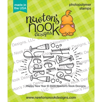 Newton's Nook Designs HAPPY NEW YEAR Clear Stamps NN2011S05