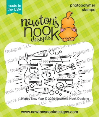Newton's Nook Designs HAPPY NEW YEAR Clear Stamps NN2011S05 zoom image
