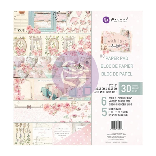 Prima Marketing WITH LOVE 12 x 12 Paper Pad 996208* Preview Image