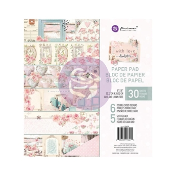 Prima Marketing WITH LOVE 8 x 8 Paper Pad 996215