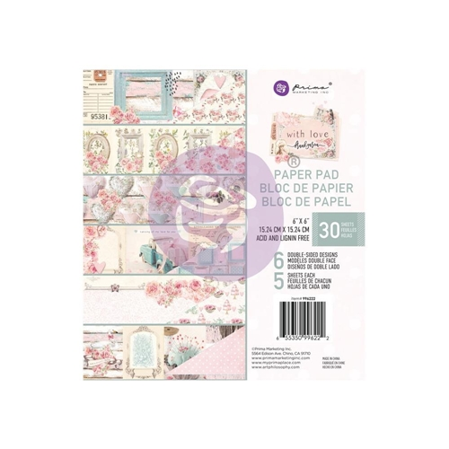 Prima Marketing WITH LOVE 6 x 6 Paper Pad 996222* Preview Image