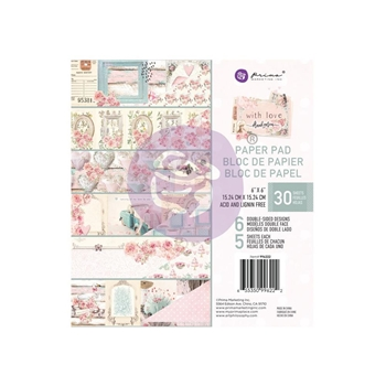 Prima Marketing WITH LOVE 6 x 6 Paper Pad 996222