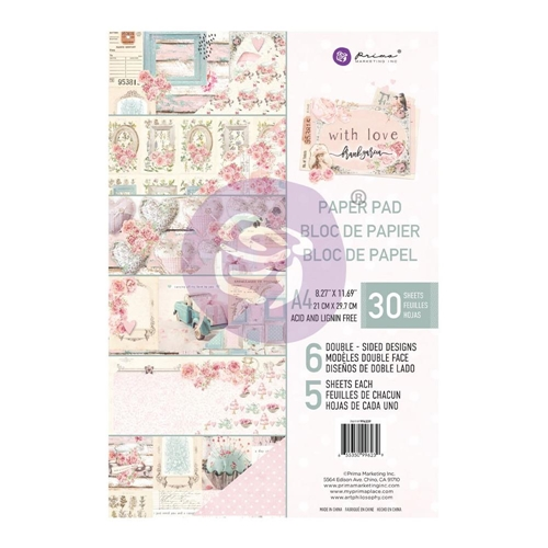 Prima Marketing A4 Paper Pad WITH LOVE 996239 Preview Image