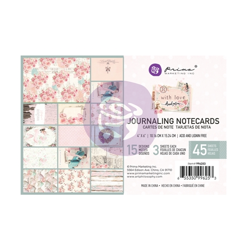 Prima Marketing WITH LOVE 4 X 6 Journaling Notecards 996253* Preview Image