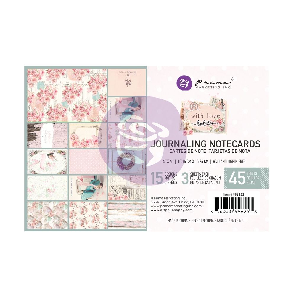 Prima Marketing WITH LOVE 4 X 6 Journaling Notecards 996253* zoom image