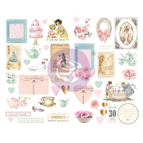 Prima Marketing WITH LOVE Chipboard Stickers 996260* Preview Image