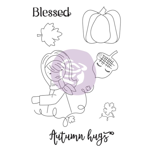 Prima Marketing AUTUMN HUGS Cling Stamps Julie Nutting 913182 Preview Image