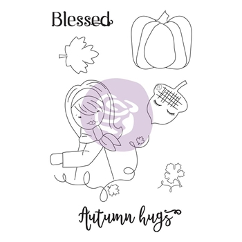 Prima Marketing AUTUMN HUGS Cling Stamps Julie Nutting 913182