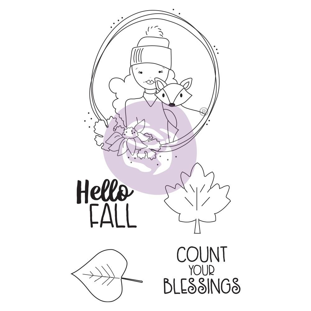 Prima Marketing HELLO FALL Cling Stamps Julie Nutting 913229 zoom image