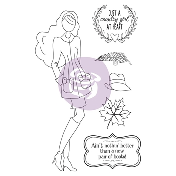 Prima Marketing JESSI Cling Stamps Julie Nutting 913236