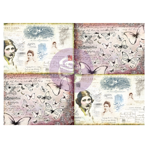 Prima Marketing LADIES' WORLD Art Daily Decorative Paper Journaling Minis 968229 Preview Image