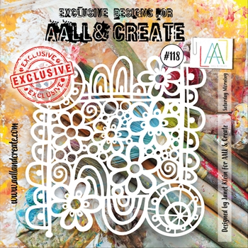 AALL & Create SATURDAY MORNING 6x6 Stencil aal10118