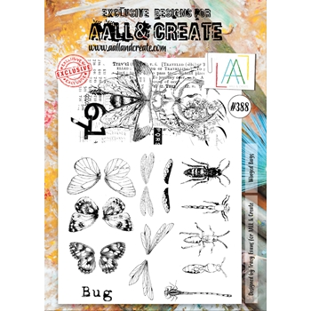 AALL & Create WINGED BUGS A4 Clear Stamps aal00388