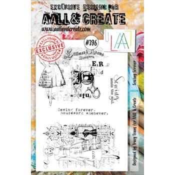 AALL & Create SEWING FOREVER A5 Clear Stamps aal00396