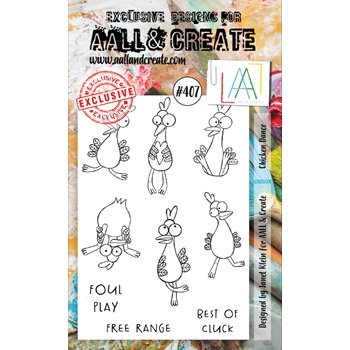 AALL & Create CHICKEN DANCE A6 Clear Stamps aal00407