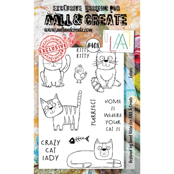 AALL & Create FELINES A6 Clear Stamps aal00408