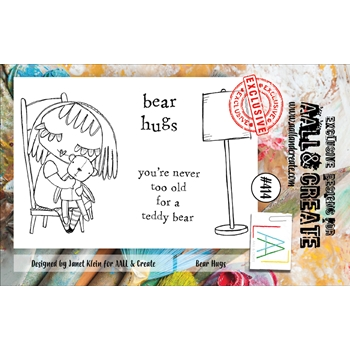 AALL & Create BEAR HUGS A7 Clear Stamps aal00414