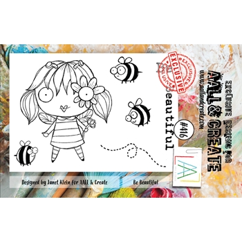 AALL & Create BE BEAUTIFUL A7 Clear Stamps aal00416