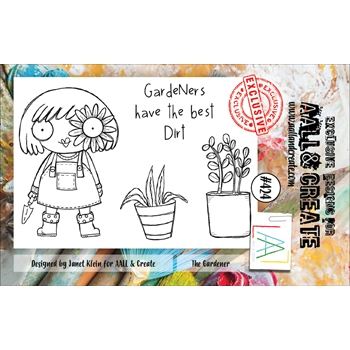 AALL & Create THE GARDENER A7 Clear Stamps aal00424