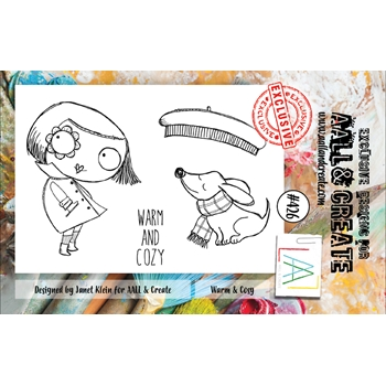 AALL & Create WARM AND COSY A7 Clear Stamps aal00426