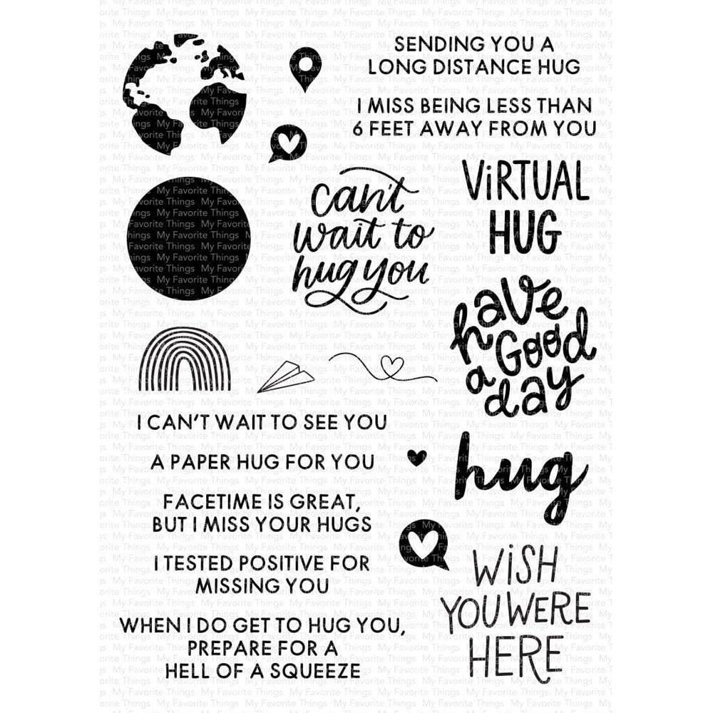 My Favorite Things I MISS YOUR HUGS Clear Stamps cs525 zoom image