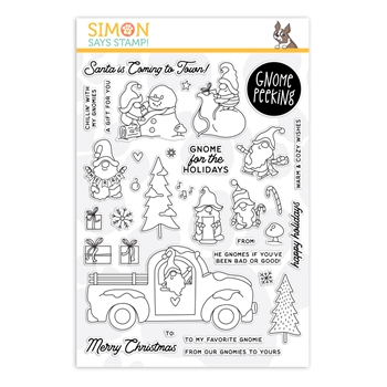 Simon Says Clear Stamps GNOME PEEKING sss202262c