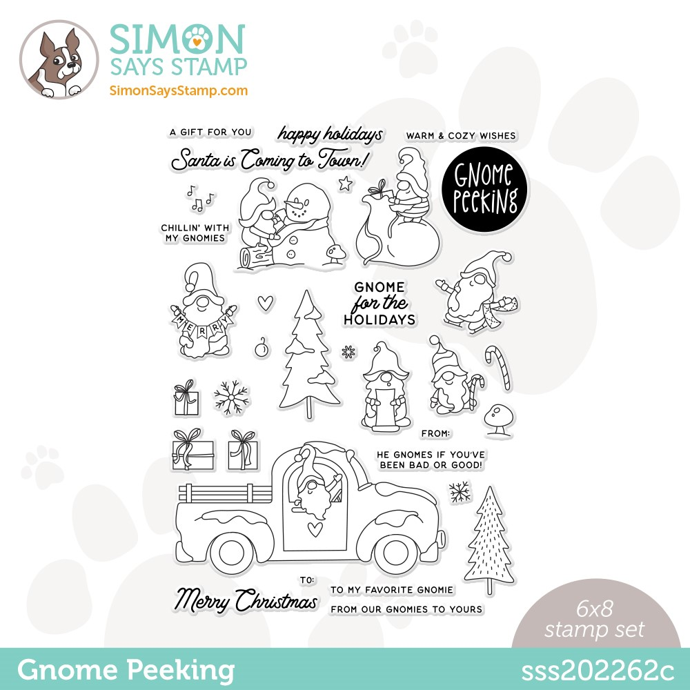 Simon Says Clear Stamps GNOME PEEKING sss202262c zoom image