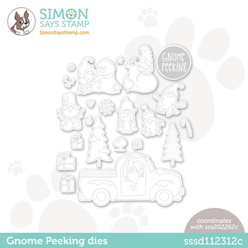 Simon Says Stamp GNOME PEEKING Wafer Dies sssd112312c Preview Image