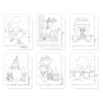Simon Says Stamp Suzy's WINTER GNOMES Watercolor Prints szwc1120wg
