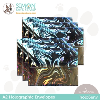 Simon Says Stamp Envelopes HOLOGRAPHIC holo6env