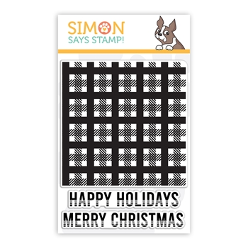 Simon Says Clear Stamps MINI PLAID sss102264