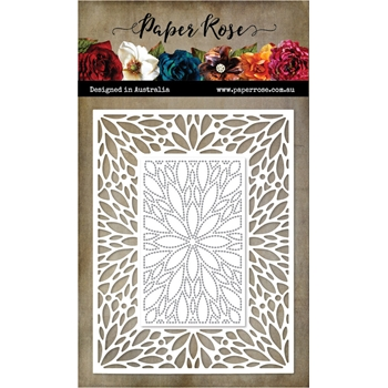 Paper Rose LEAF BURST RECTANGLE FRAME Die 20547