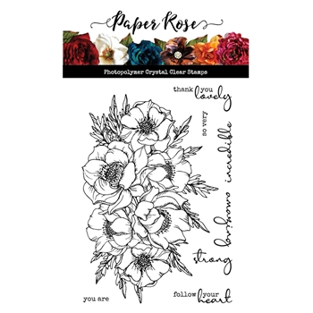 Paper Rose BIG BLOOM Clear Stamps 20709